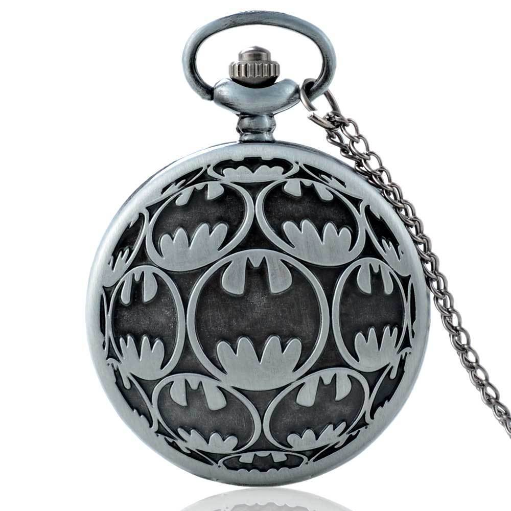 IBEINA Antique Steampunk Pocket Watch Full Hunter Quartz Engraved Fob Retro Pendant Pocket Watch Chain Gift