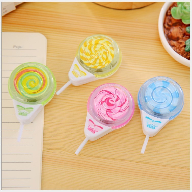 1 Pieces Lytwtw's Creative Cute Student Prizes Lollipop Sharpener Office School Supplies Pencil Cutter Knife Gift Stationery