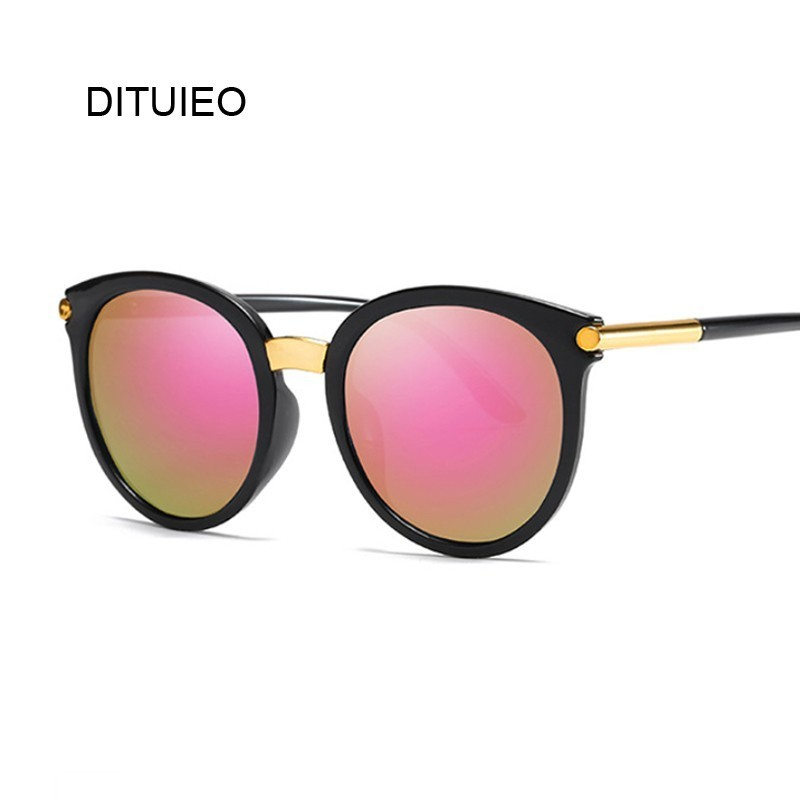 Cat Eye Sunglasses Women Ladies Fashion Cheap Designer Mirror Lens Cateye Black White Sun Glasses Female Shades