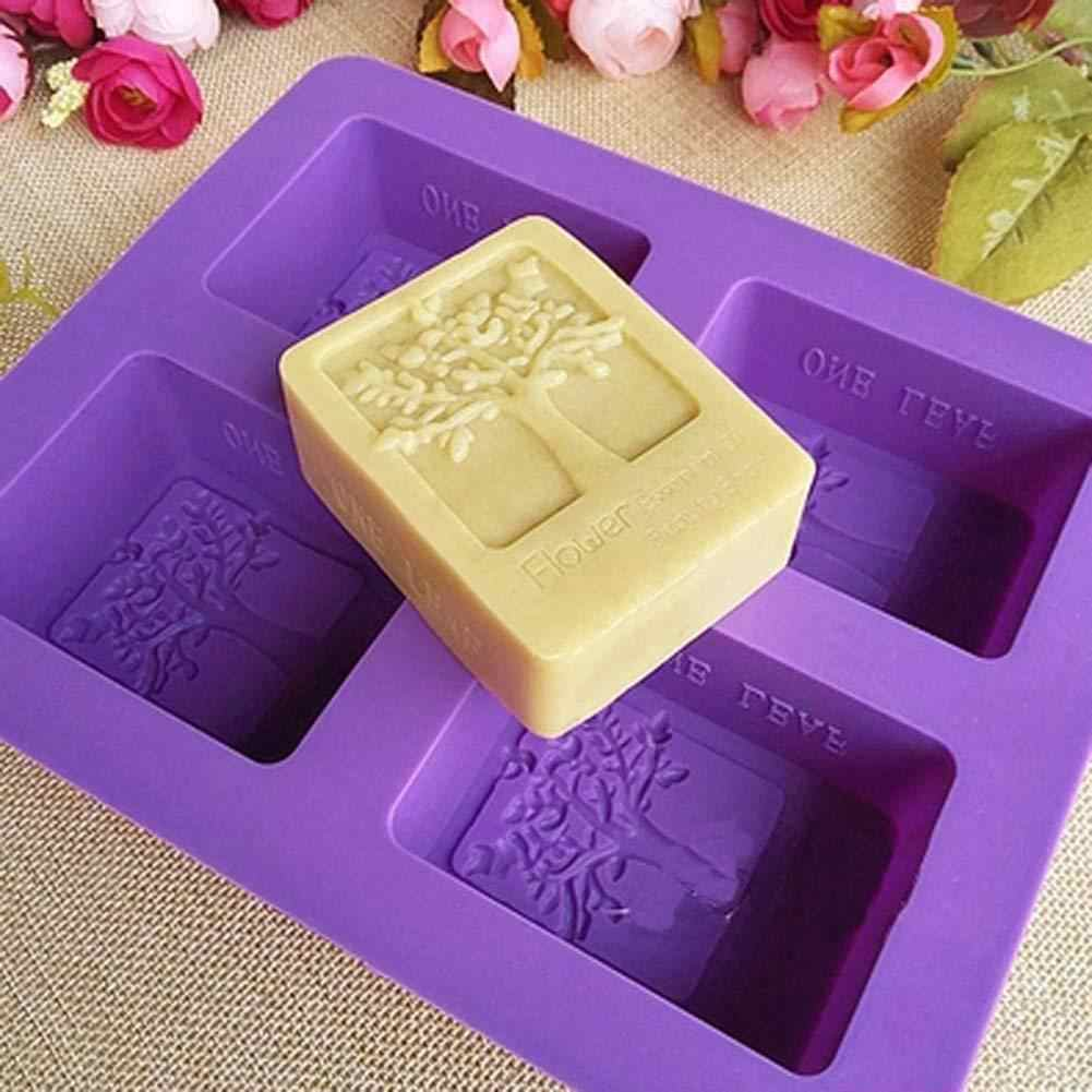 4 Compartments Tree Soap Mold DIY Handmade Soap Mould Handmade Cooling Soap Mold
