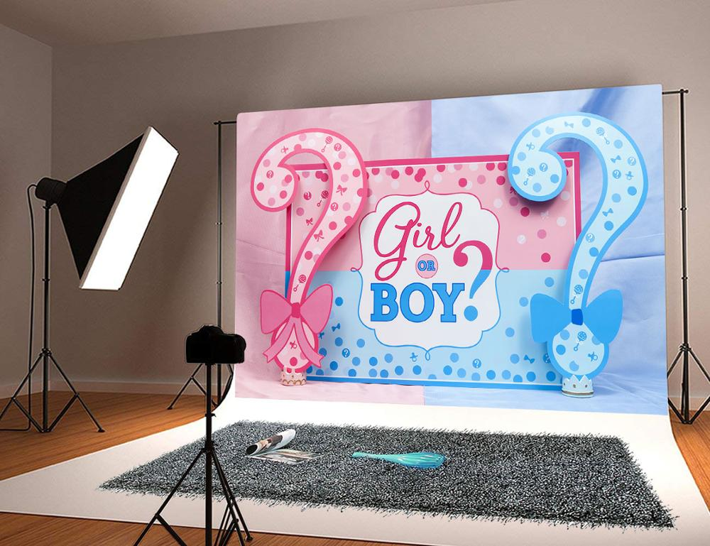 Baby Shower Backdrop For Photography Boy Or Girl Party Background Baby Shower Decoration Studio Props
