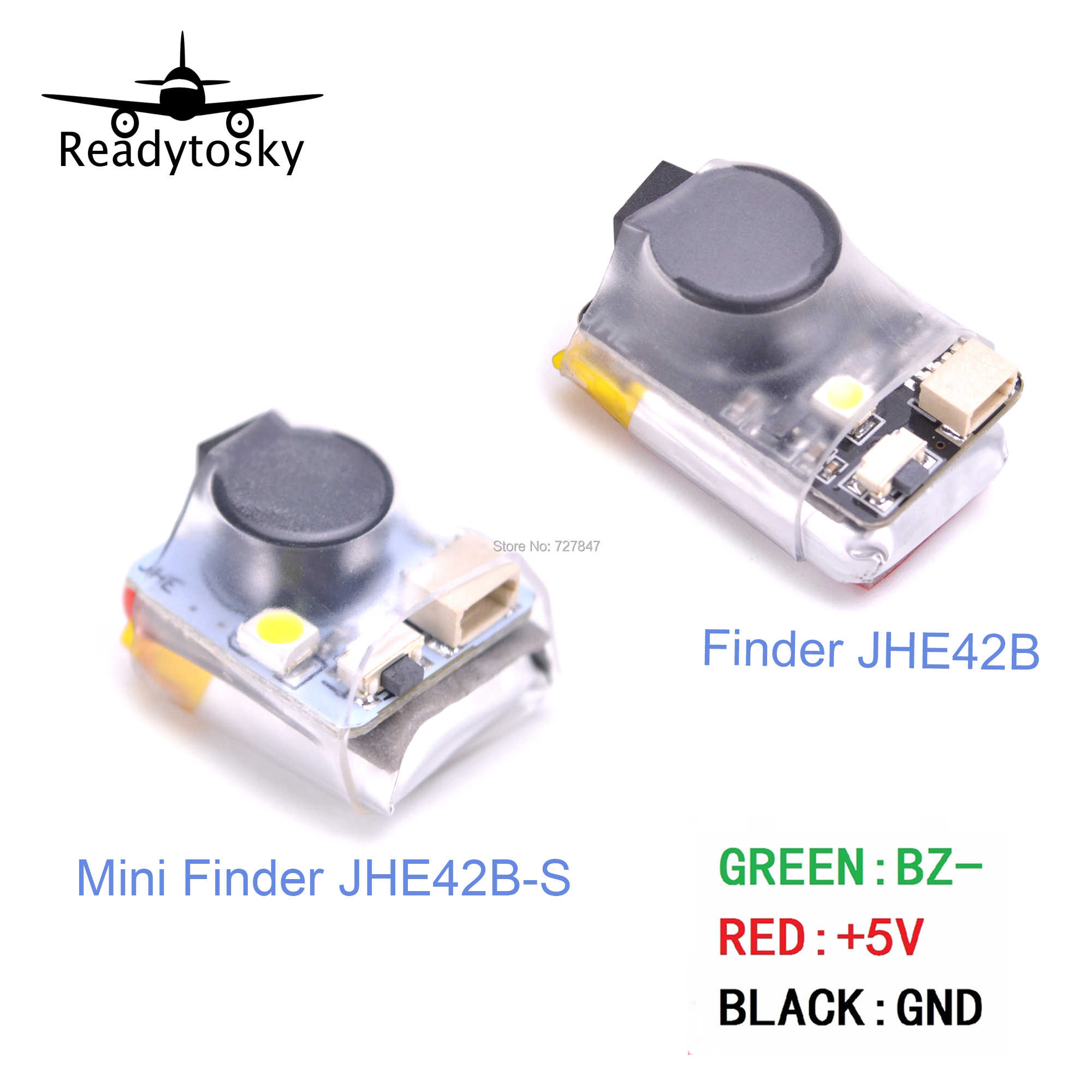 Finder JHE42B/JHE42B_S 5V Super Luid Buzzer Tracker 110dB met LED Buzzer Alarm Voor FPV Racing Drone Vlucht controller