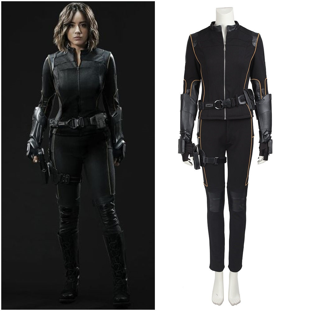 Agents of S.H.I.E.L.D. Skye Quake Cosplay Costume Halloween Outfit