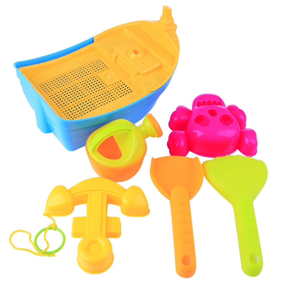 6Pcs Summer Beach Sand Toys Plastic Beach Boat Playset Build Model Sand Clay Mold Sand Water Playing Tool Toy For Kids Children