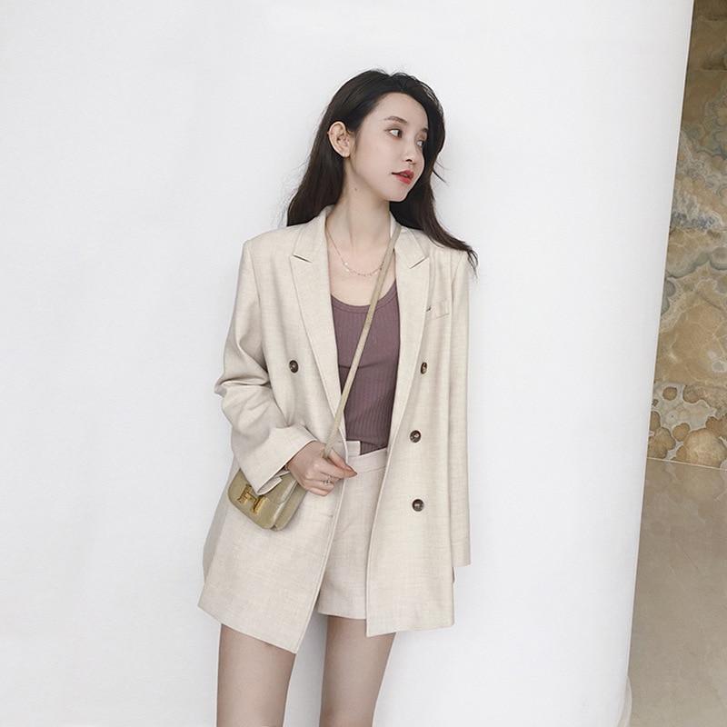 Mode Blazer Femmes Cool Vintage Pièces Lâche Hiver Ensemble 2 Hauts Version Beau Shorts Bizarre Automne Fille Coréenne Costume Robe Nouvelle NPZnwX08Ok