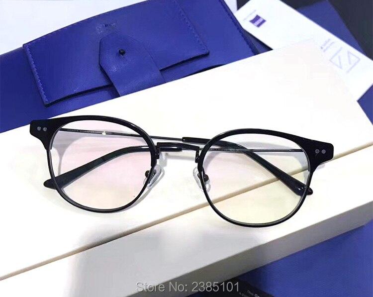 Optique classique doux lunettes cadre Prescription myopie lunettes demi cadre ordinateur femmes hommes lunettes lunettes à verres transparents - 6