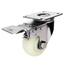 5 inch 125mm 304 Stainless Steel median duty PP Casters with side lock brake