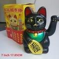 7 pollici 17.85 CENTIMETRI Grandi Carino Feng Shui Nero Cenno Gatto Ricchezza Fortuna Fortunato Sventolando Kitty Decor|Statuine e miniature|   -