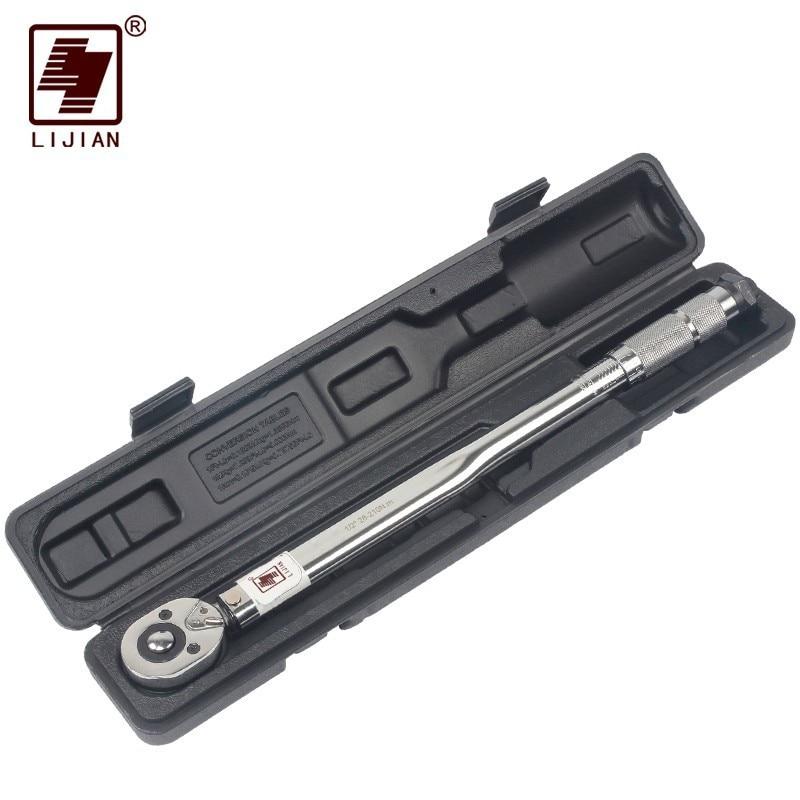 1/4 3/8 1/2The Nm Torquímetro Unidade 5-25 Two-Way Para A Precisão do Mecanismo Chave Mão ferramenta chave catraca torquímetro Predefinido
