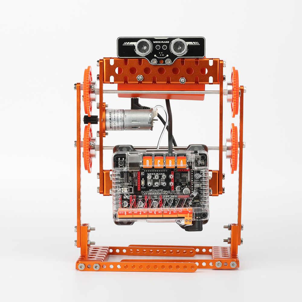 Новое поступление weemake DIY 6 в 1 weebot Evolution умный RC робот автомобильный комплект программируемый приложение управление учебный комплект для детей подарок