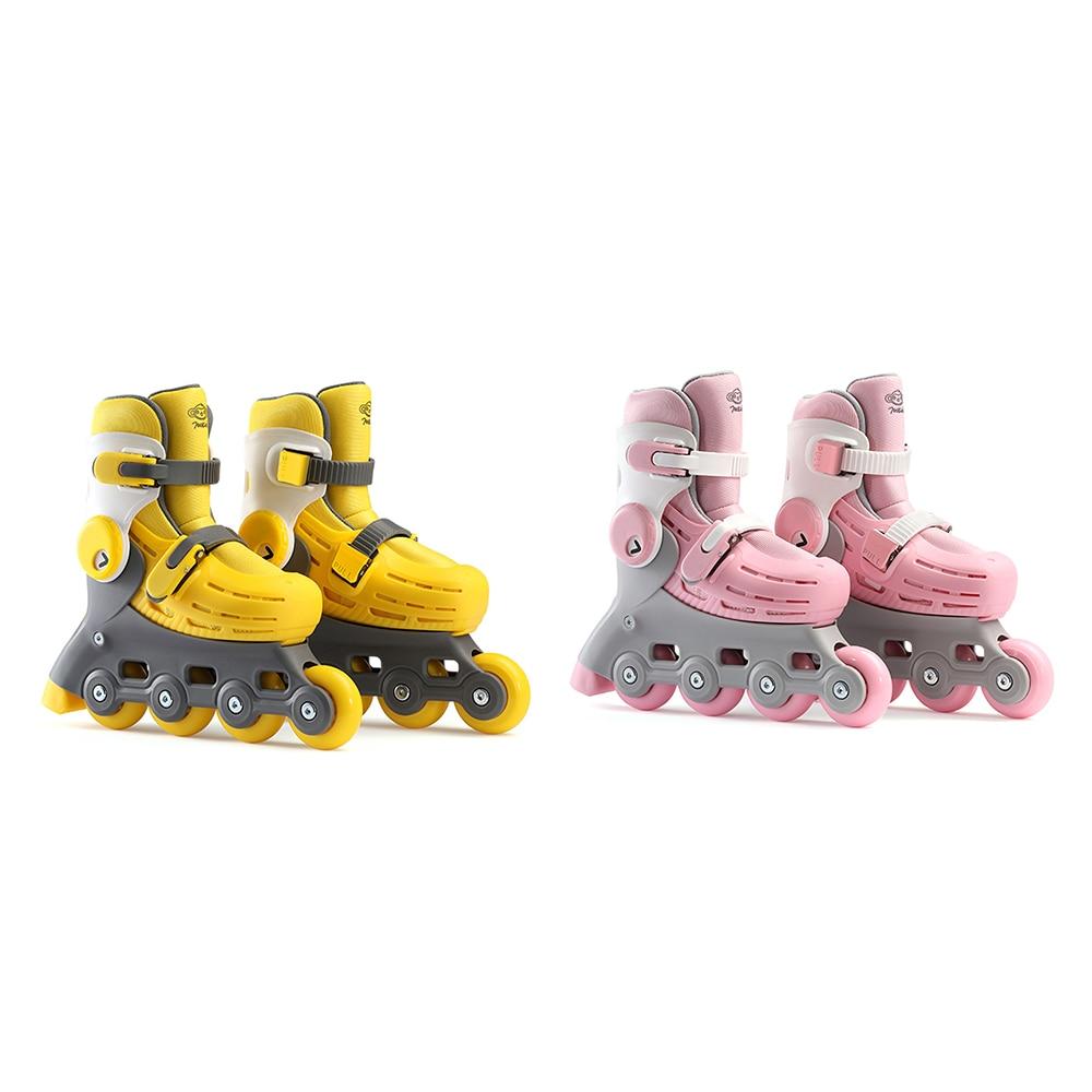 Roue lumineuse de revêtement amovible Stable d'enfants de patins à roulettes réglables de 700 enfants