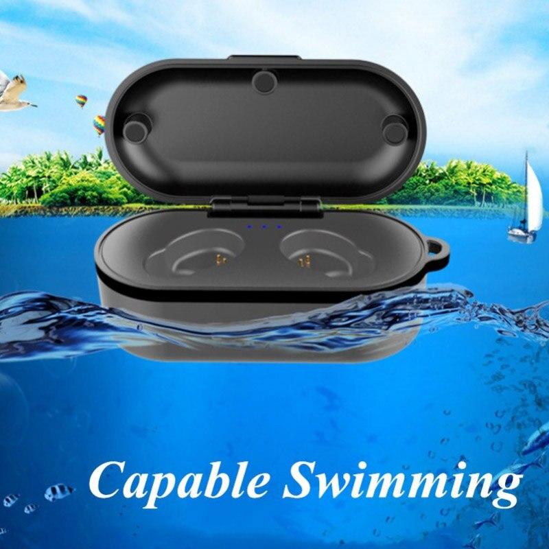 X6 tws Bluetooth Headset IPX8 Waterproof Swimming Wireless Earphones In Ear Headphones Earbuds PK i10 For iPhone Xiaomi Samsung in Bluetooth Earphones Headphones from Consumer Electronics