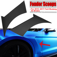 New 2x Car Front Side For Fender Door Scoops Frame Cover For Ford For Mustang GT350 Style 2015 2017 Car For Fender Scoops Cover