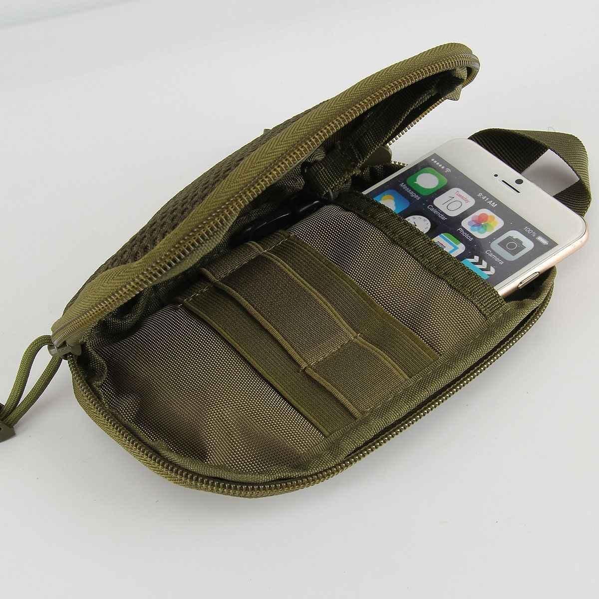 Açık Taktik Molle Kılıfı Bel fanny paketi Kemer telefon kılıfı Kamp Yürüyüş Çantası Bel Çantası