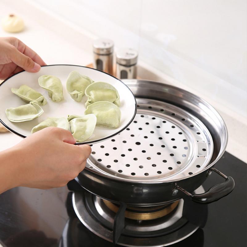 Three Detachable Legged Round Steamer Rack Cooking Tool Stainless Steel Steamer Shelf for Food Steaming, Baking, Roasting