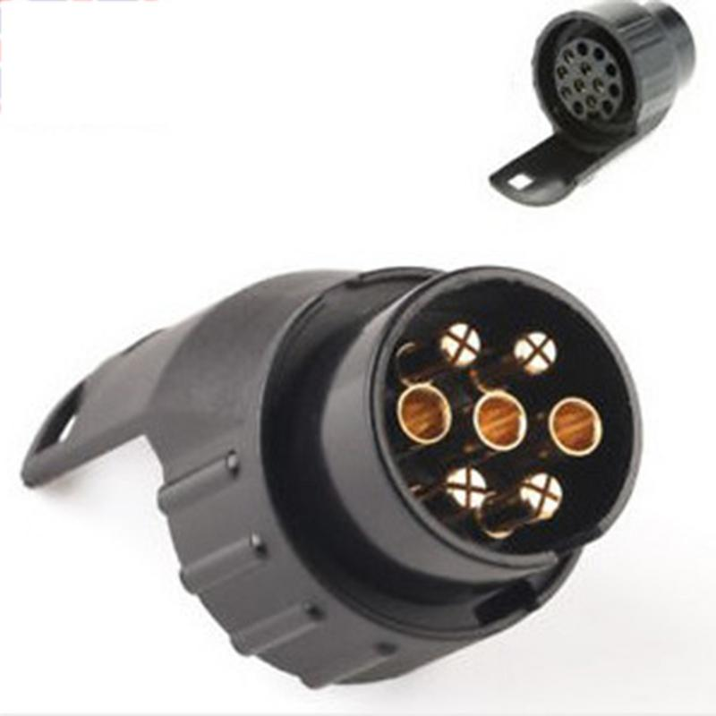 7 Pin To 13 Pin Caravan Adaptor Towbar Towing Socket Electrical Converter 12V Plastic Trailer Adapter Connector