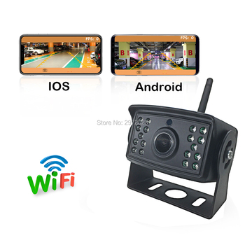Newest Car Rear View Camera Truck Bus 24V Automobile WiFi Wireless Reverse HD Night Vision Backup Camera For Iphone IOS Android