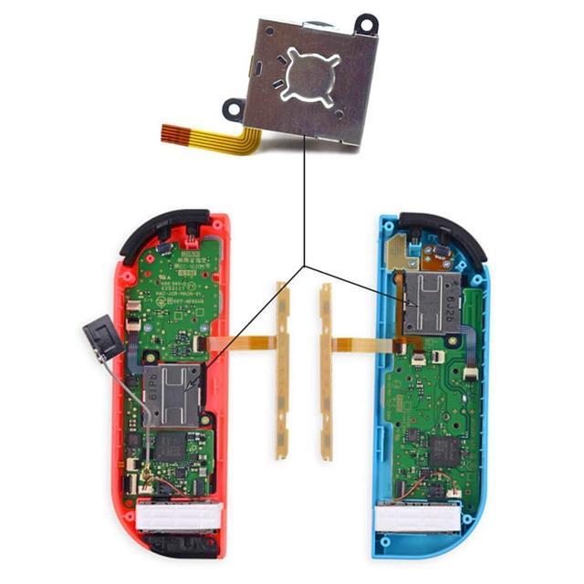 Joy Con Replacement 3D Analog Joystick Thumb Stick Controller Joycon Sensor Module Potentiometer Repair Tool For Nintendo Switch