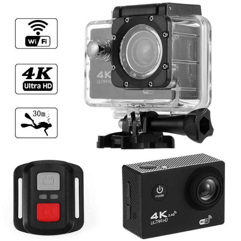 1pcs F60R 4K WIFI Sports Action Camera 1080P HD 16MP Helmet Cam 30m Waterproof 170 Degree Wide Angle Lens DV with Remote Control1pcs F60R 4K WIFI Sports Action Camera 1080P HD 16MP Helmet Cam 30m Waterproof 170 Degree Wide Angle Lens DV with Remote Control