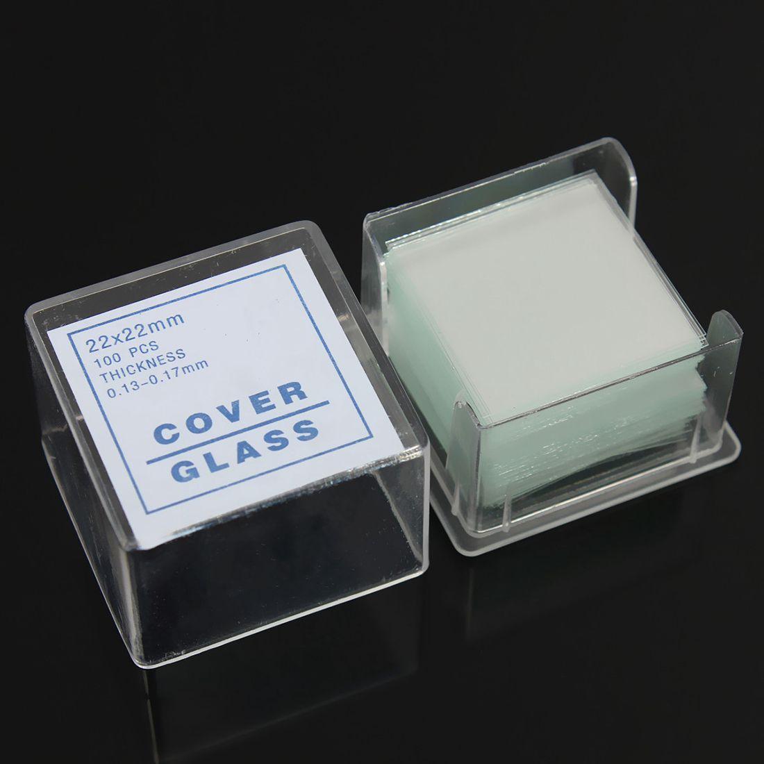 HLZS-100pcs Transparent Slides Coverslips Coverslides 22x22mm For Microscope
