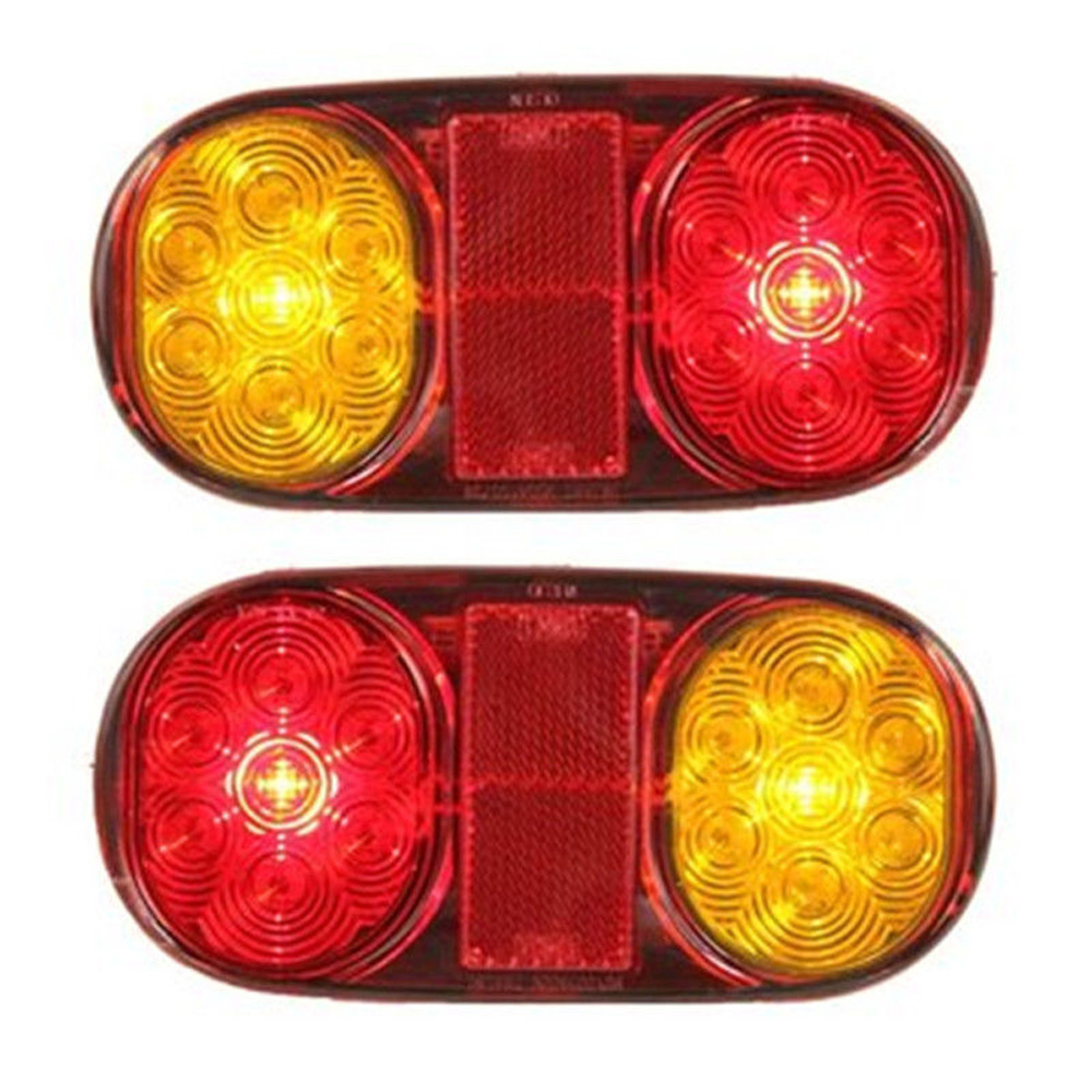 2X 12V 14Led Tail Trailer Lights For Truck Boat Submersible No/Plate Waterproof