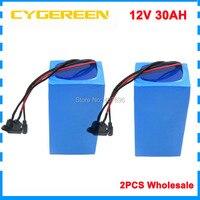 2 шт. оптовая продажа 360 Вт 12 В 30ah литий ионный батарея пакет 30A BMS защиты для электрический велосипед Гольф корзину Мощность Инструмент