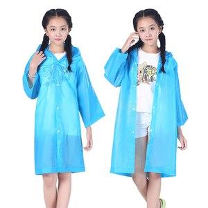 Новинка 2019 года, уличная одежда, плотная куртка, водонепроницаемый детский длинный дождевик с капюшоном, детский плотный дождевик, пончо