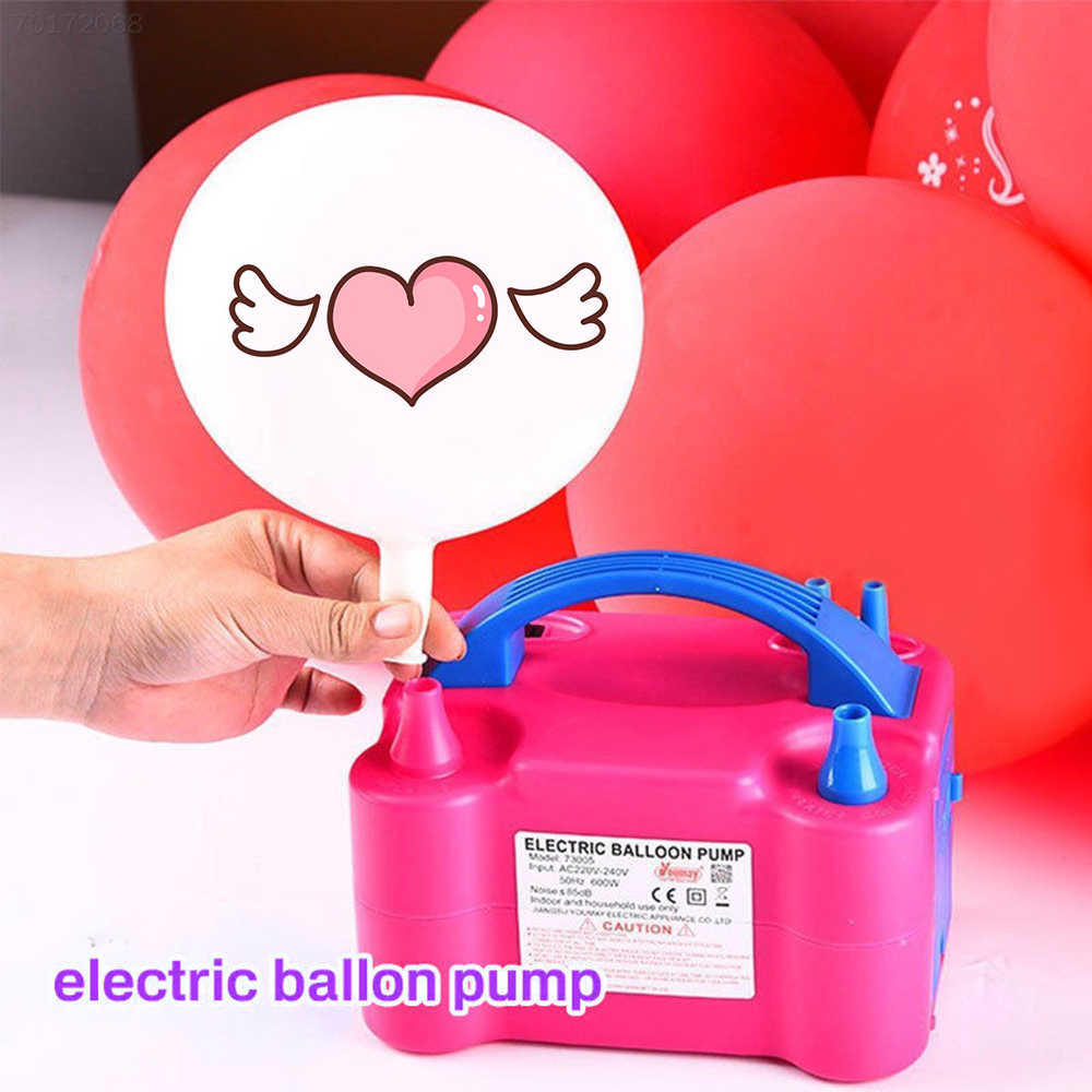 Портативный Электрический воздушный шар насос ЕС/США штекер двойное отверстие сопла воздушный компрессор надувной электрический воздушный шар насос воздуходувка