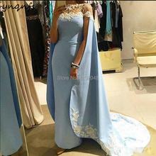 YNQNFS M16 Cape Cloak Kaftan Robe Soiree Dubai Arabic Evening Gowns Women Elegant Formal Dress Mother
