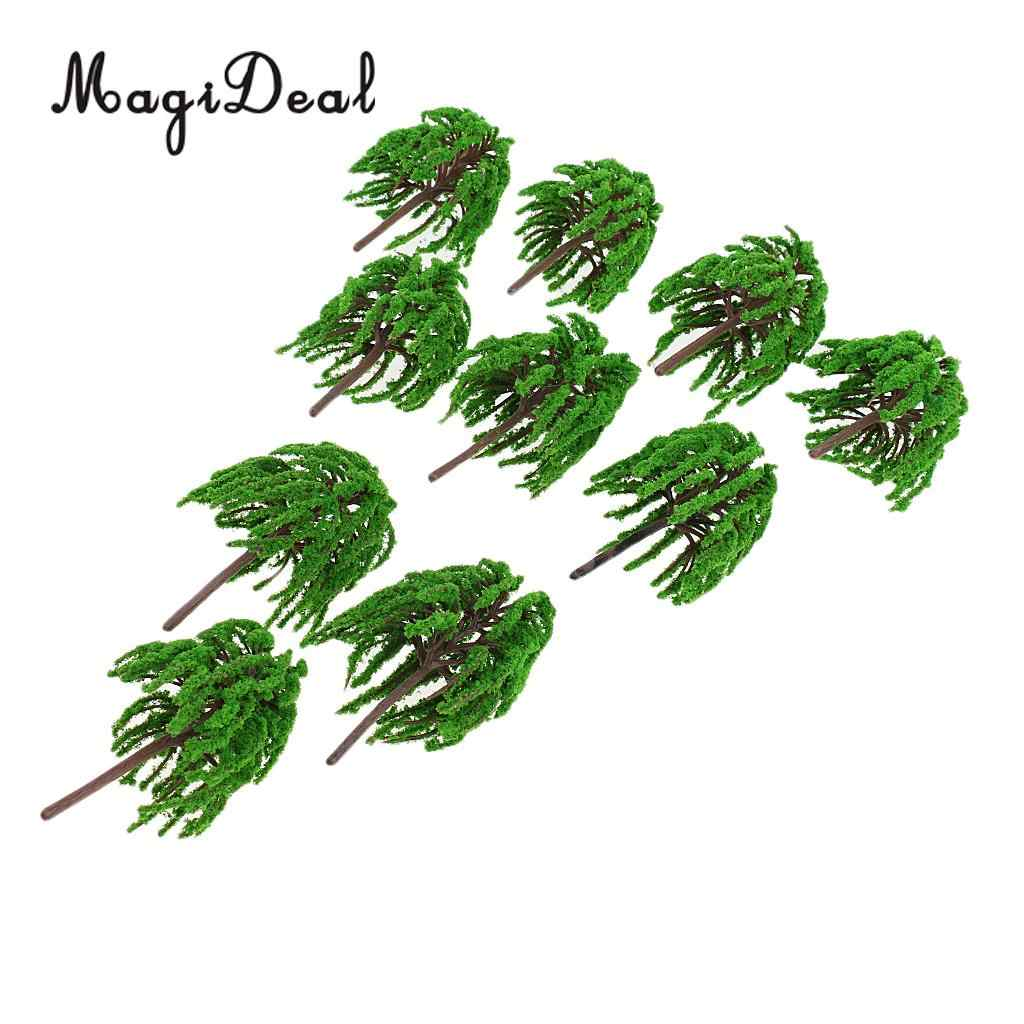 MagiDeal 10 шт./упак. 1: 75 Пластик ивовые деревья модель железнодорожной железной дороги ж/д парковый, садовый сцены расположение пейзажей пейзаж Хо ОО