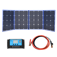 XINPUGUANG solar panels 220W (55W x 4 Piece) 18V only China folding + 12/24V pane Solar controller charge battery motorhome