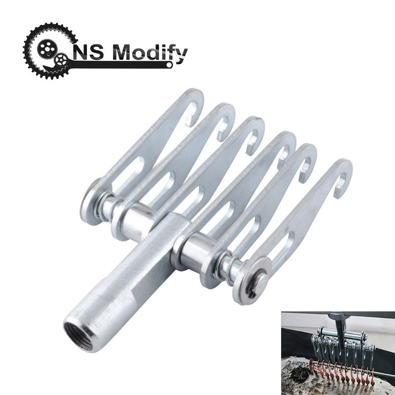 NS Modify Auto Car Body 16mm Thread Car Body Repair Dent Tool 6 Finger Dent Repair Puller Claw Hook For Slide Hammer Tool