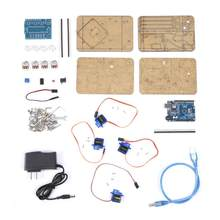DIY Assembly Acrylic Mechanical Arm 4 DOF Robot Claw Kit for Arduino Robotics SNAM1900(China)