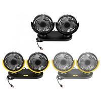 USB Dual Head Car Fan Portable Air Conditioner Auto Cooler Ventilation 12V Car Decoration Auto Accessorie