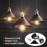Loft Vintage Luce Del Pendente Industriale Nordic Retrò Luci In Ferro Edison Lampada Apparecchio di Illuminazione Per Bar Caffetteria Casa di Illuminazione