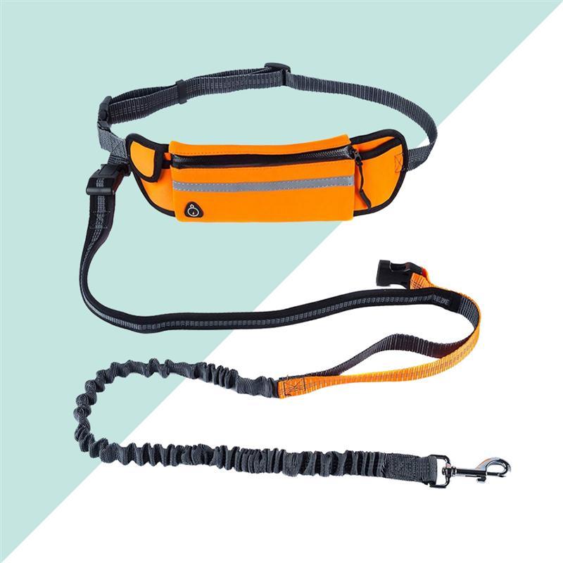 Per Pet Vita Tasca A Da Cane Piedi Le Del Mani Corsa Con Guinzaglio E Trekking Libere Sacchetto Regolabile arancione Scarpe Jogging 0SttwqF