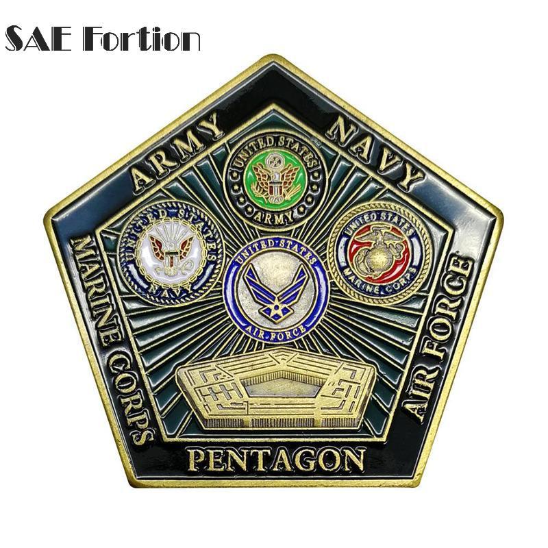 USA Navy's Pentagon Commemorative Coin Collection Memorial Copy Coins Collectibles Coin Souvenir Gift Home Decoration JNB5658