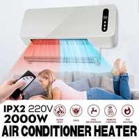 Новейший 2000 Вт Теплый Прохладный двойной использование нагреватель, монтируемый на стену время пространство отопление кондиционер очистк...
