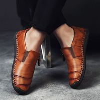 2019 New Brand Fashion Genuine Leather Men Shoes Most Popular Men Casual Shoes Brown Black Sneaker Shoes For Men