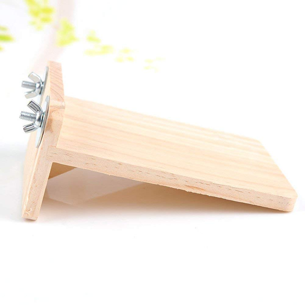 Wooden Hamster Chinchilla Platform Springboard Wooden Small Animal Platform For Cage in Cages from Home Garden
