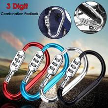 3-Digit-Combination Lock Suitcase Motorcycle Helmet Security-Locks Luggage Travel