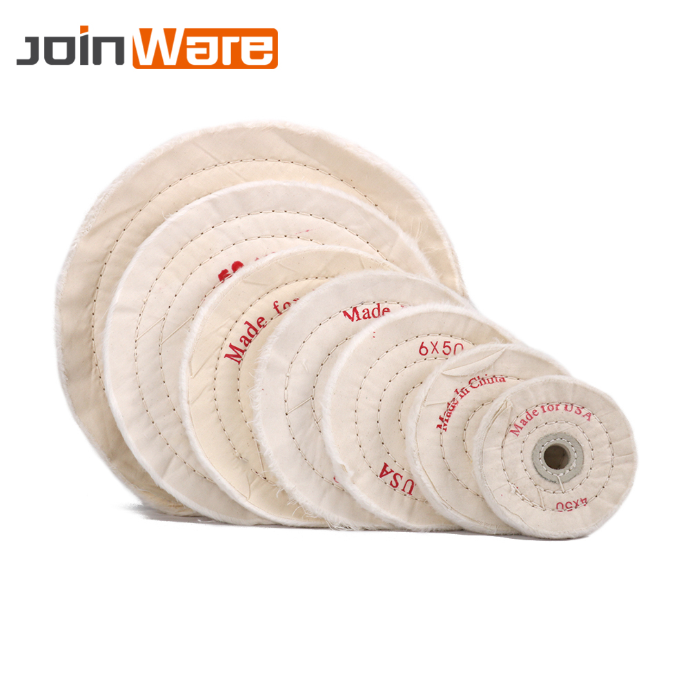 "4-10/""inch 100-250mm Cotton Cloth polishing wheel Buffer Pad For Mirror Polishing"