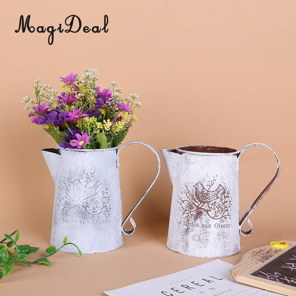 Shabby Chic Wedding Table Decorations: MagiDeal Shabby Chic Country Vintage Metal Jug Vase Flower