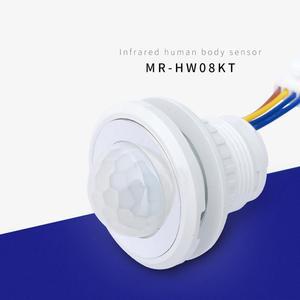 Image 2 - 40mm detektor LED PIR czujnik ruchu na podczerwień przełącznik z z opóźnieniem czasowym regulowane światło ciemny dla domu oświetleniowa lampa LED