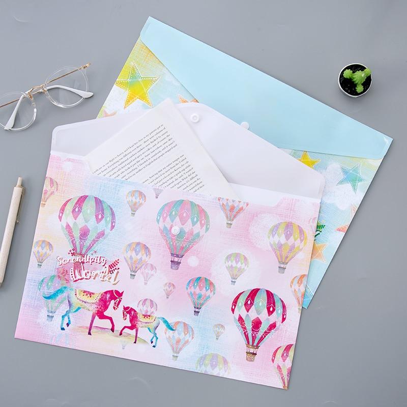 10PCS A4 Interesting Animal Document Bag Creative Korean Stationery Student Zipper Bag Female Information Bag File Folder