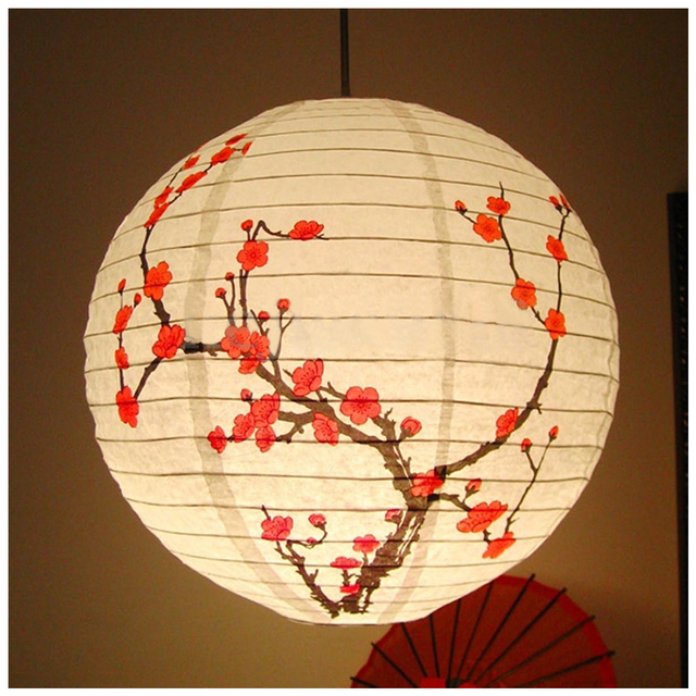 40cm Lampshade Paper Lantern Oriental Style Light Decoration Plum Blossom Fashion Lanterns Decorative Gift Lightweight Lampshade