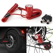 קטנוע דיסק בלם מנעול נגד גניבת אבטחת קטנוע גלגלי מנעול שרשרת טבעת מנעול חשמלי אופני קטנוע אופנועים
