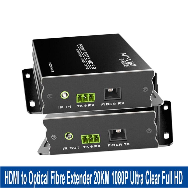 Мини приемник передатчика HDMI оптический волокна Extender1080P HD видео адаптер одиночный режим SC интерфейс 20 км Трансмиссия HDMI