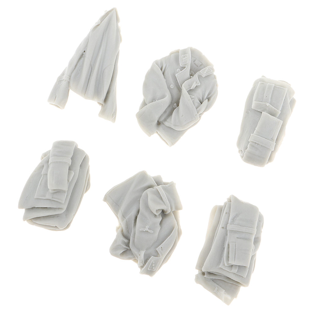 1:35 Resin Unpainted Kit Soldiers Scene Accessories Models Clothes Shoes Hat