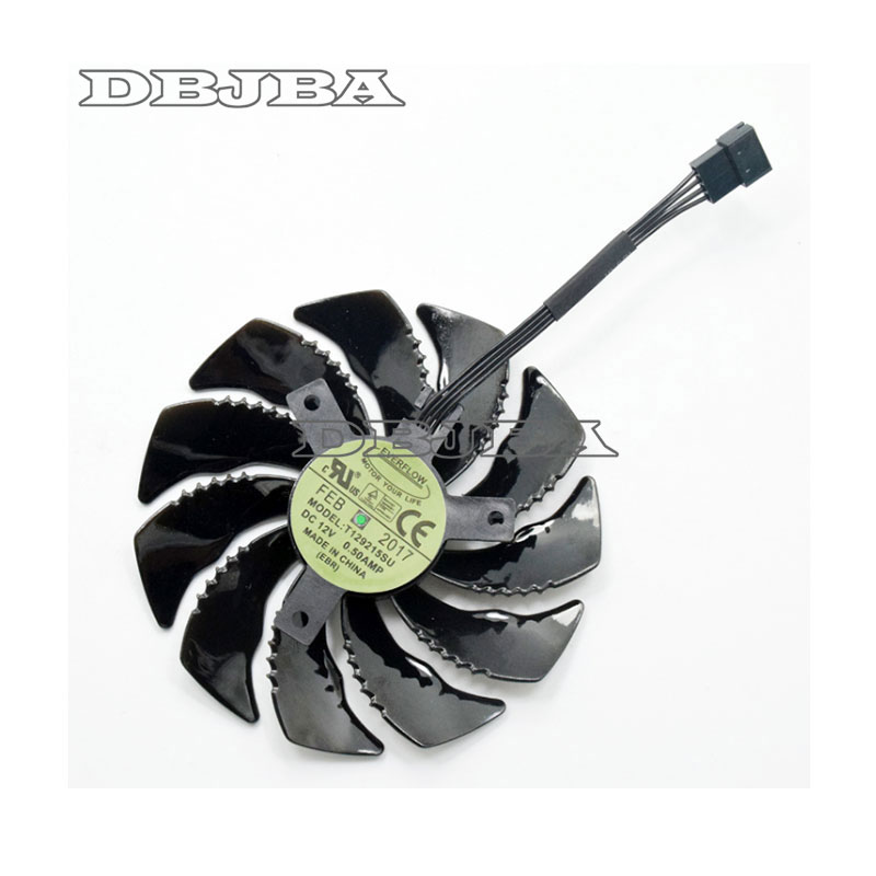88mm T129215SU Graphics Card Cooling Fan For <font><b>Gigabyte</b></font> GeForce <font><b>GTX</b></font> <font><b>1050</b></font> <font><b>Ti</b></font> RX 480 470 570 580 <font><b>GTX</b></font> 1060 G1 Gaming Cooler (Fan-B) image